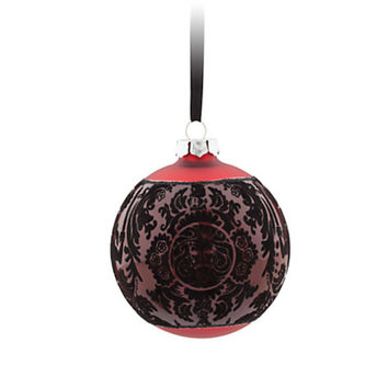 disney parks haunted mansion red glass ball christmas ornament new with tag