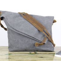 Fashion messenger bag/shoulder bag/crossbody bag/student messenger bag/book bag/school bag/woman messenger/canvas leather bag
