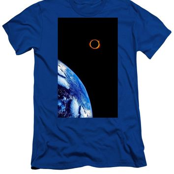 Solar Eclipse From The Space By Adam Asar - Men's T-Shirt (Athletic Fit)