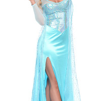 Ice Girl Costume, Sequin Ice Dress Halloween Costume, Blue Ice Dress Costume