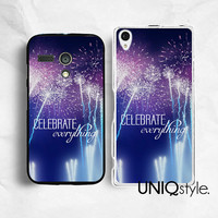 Life quote Sony Motorola phone case for Sony Xperia Z Xperia Z1, Moto G Moto X, life quote typo back cover for Sony Motorola, fireworks, E80