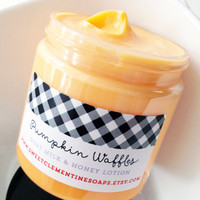 Pumpkin Waffles Lotion - Goat's Milk and Honey Hand and Body Lotion - Halloween Lotion - Pumpkin Lotion