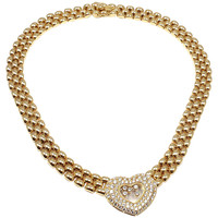 CHOPARD Happy Diamonds Diamond Heart Yellow Gold Necklace