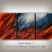 Painting, Blue Abstract Paintings on Canvas, 72 Inches Large Wall Art by Nandita, Modern Art, oil painting, Original home decor - Nandita