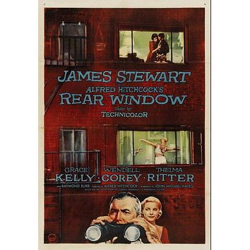 Vintage Rear Window Poster//Classic Movie Poster//Movie Poster//Poster Reprint//Home Decor//Wall Decor//Vintage Art