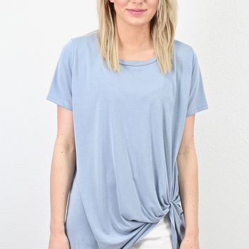 Get Twisted Comfy Short Sleeve Basic {Powder Blue}