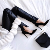 Elegant Women Pumps High Heels Pointed Toe Sexy Women Shoes Soft Women Shoes For Lady High Heel Office Shoes XWC0474-5