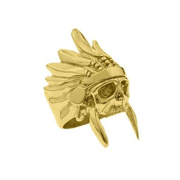 *Mister  Indian Chief Ring - Gold