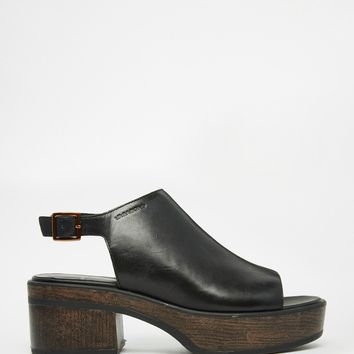 Vagabond Noor Black Leather Sandals at asos.com