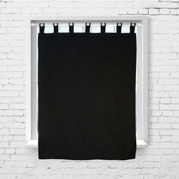 College Blackout Curtain - Black Dorm Room Curtains