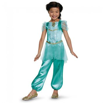 Jasmine Classic Disney Princess Aladdin Costume, One Color, X-Small/3T-4T