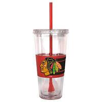 NHL Chicago Blackhawks Hype Straw Tumbler, 22 oz., Clear