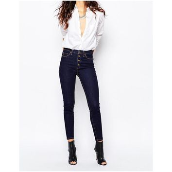 NWT BlankNYC Button Front Skinny Jeans