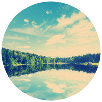Summer Lake Circle Wall Decal