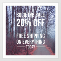20% Off + Free Worldwide Shipping on Everything Today! Art Print by Lena Photo Art