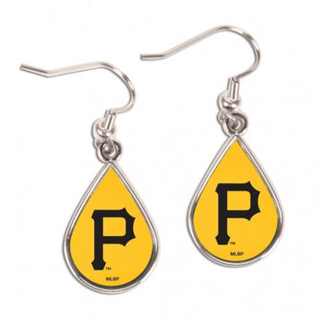 Pittsburgh Pirates Earrings Tear Drop Style