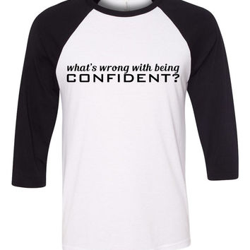 "Demi Lovato ""What's Wrong With Being Confident?"" Baseball Tee"