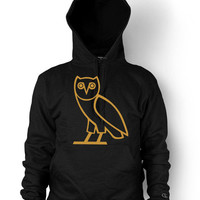 Drake OVOXO Hoodie Weekend gold Owl OVO XO logo Swag Hip Hop Men's Hooded Sweatshirt