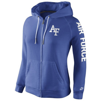 Air Force Falcons Nike Womens Rally Full Zip Hoodie - Royal Blue