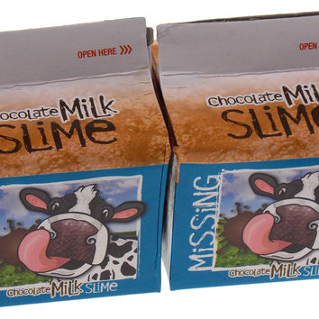 Lot 2 Chocolate Milk Carton Slime Goop Stress Reliever Novelty Joke Gag Gift NEW