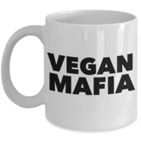 Vegan Mafia Mug Ceramic Coffee Cup for Vegans