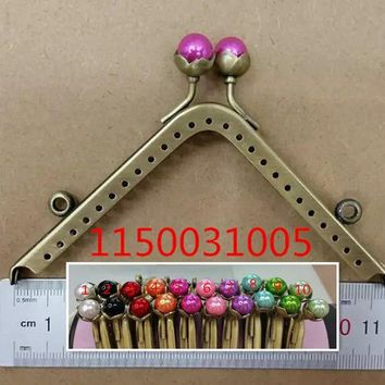Free Shipping-10pcs Random Mixed Metal Frame Kiss Clasp Lock Handle DIY Handmade For Purse Bag Parts Antique Bronze 11.5x5.5cm