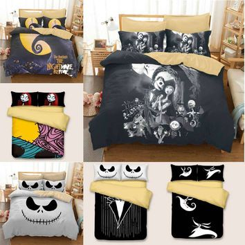 Cool Luxury Skull Bedding Nightmare  Bedding Set Qualified Bedclothes  Unique king size bedding set  Duvet Cover Twin Full QueenAT_93_12