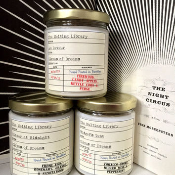 Circus of Dreams Trio - Night Circus Inspired Candles
