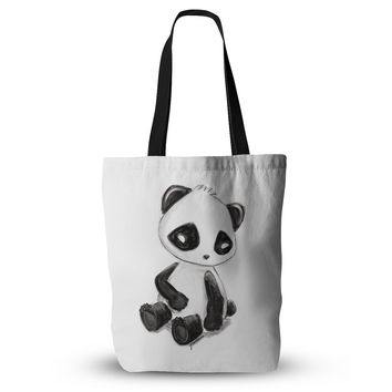 "Geordanna Cordero-Fields ""My Panda Sketch"" Black White Everything Tote Bag"