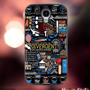 MC12Y,19,Divergent,Collage,Hipster,Abstract -Accessories case cellphone- Design for Samsung Galaxy S5 - Black case - Material Soft Rubber