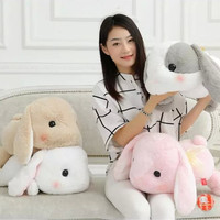 Bigger Than You Think  AMUSE Pote Usa Loppy Cuddly Bunny Fluffy Rabbit  Plush Toy Lying Gesture Cushion Pillow Gift Giving