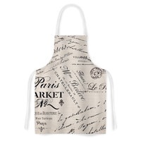 "Sylvia Cook ""French Script"" Handwriting Artistic Apron"