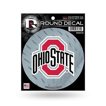 """Licensed Ohio State Buckeyes Official NCAA 4.5"""" Round Decal OSU by Rico Industries KO_19_1"""