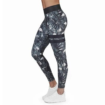 Women Trousers Breathable Comfy Printed Stretchy Workout Fitness Tight Pant Fashion Trousers