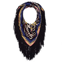 Aztec Scarf with Fringe
