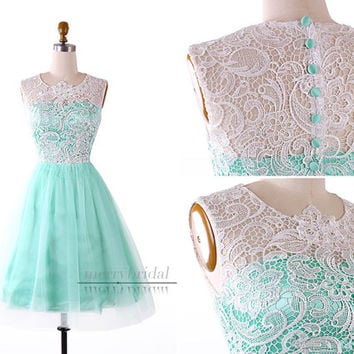 Vintage Lace Top Cocktail Dresses