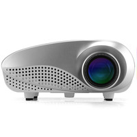 1080p Support Mini Multimedia LED Projector - 320x240 Resolution, 1000:1 Contrast Ratio, 50 Lumens, HDMI Port