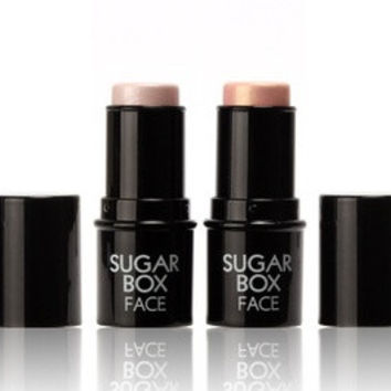 Sugar box Highlighter stick All Over Shimmer Highlighting Powder Creamy Texture Water-proof Silver Shimmer Light£¨1 pc£© = 1669056260