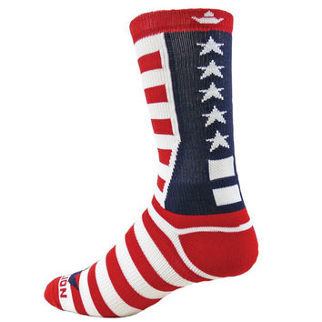 TEAM USA Crew Socks america red white blue stars stripes  4th of July**FREE Shipping**