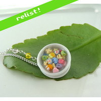 New Lucky Charms Breakfast Cereal Necklace Miniature by TheMenu