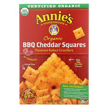 Annie's Homegrown Cheddar Squares Bbq Cheddar Squares - Case Of 12 - 7.5 Oz