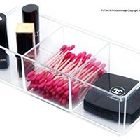 PuTwo Makeup Organizer Bathroom Storage Tray Acrylic Makeup Organizer Cosmetic holder - 3 Section