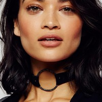 Free People Pave Ring Suede Choker