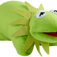 "Pillow Pets Authentic Disney 18"" Kermit, Folding Plush Pillow- Large"