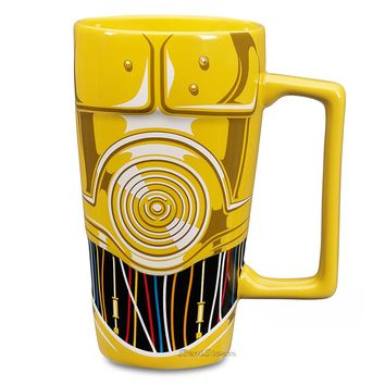 Licensed cool NEW Disney Store EXC Star Wars 3D C-3PO ROBOT Sculpted Ceramic Coffee Mug 16 OZ