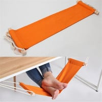 Portable Mini Foot Rest Hammock Orange