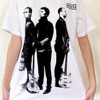 MUSE Guitar Act Punk rock Music band nirvana kurt cobain Unisex Art t-shirt Sz.S,M,L,XL