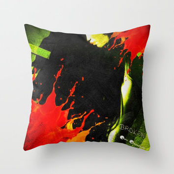 BROKEN Throw Pillow by    Amy Anderson