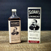 Vintage Advertisement - Sloan's Liniment Bottle and Box