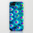 peacock feathers - for iphone - iPhone Case by Simone Morana Cyla